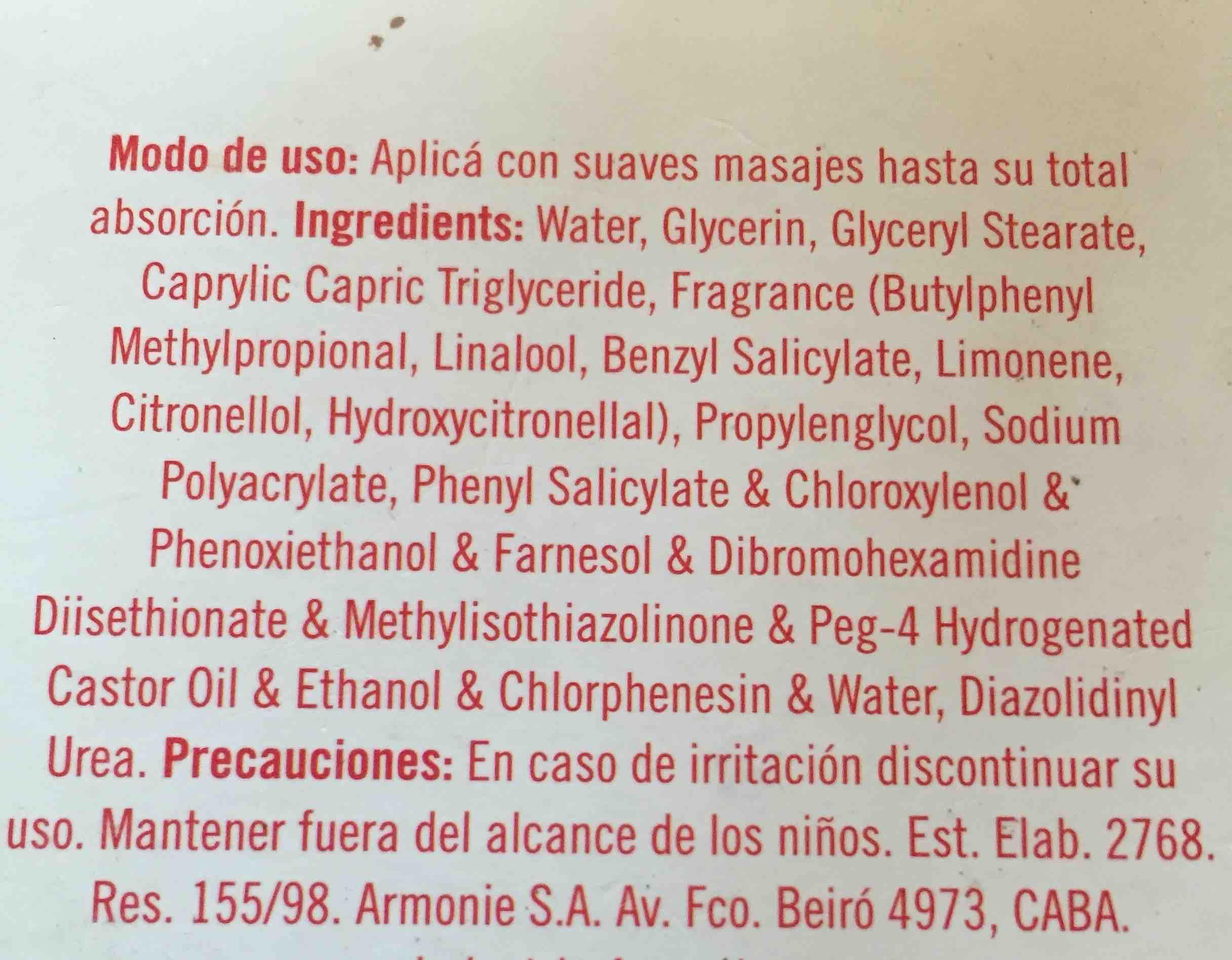 crema química